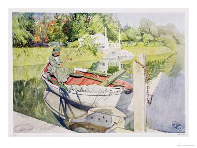 Fishing, 1909-Carl Larsson-Giclee Print