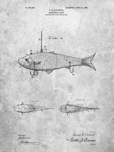 Fishing Artificial Bait-Cole Borders-Art Print