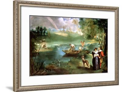 Fishing at St Ouen, 1860-1861-Edouard Manet-Framed Giclee Print