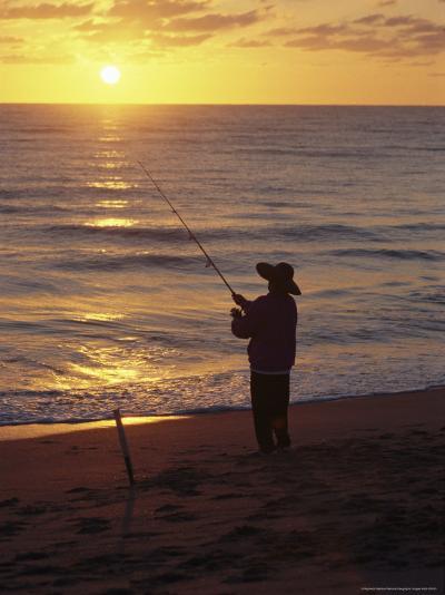 Fishing at Sunrise-Raymond Gehman-Photographic Print