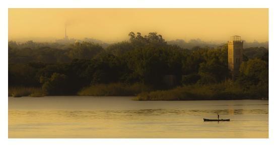 Fishing At Sunset-Lisandro Trarbach-Giclee Print