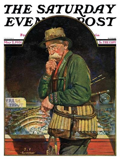 """Fishing at the Market,"" Saturday Evening Post Cover, May 2, 1931-J^F^ Kernan-Giclee Print"