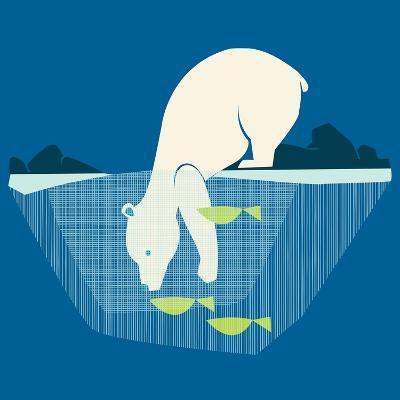 Fishing Bear--Giclee Print