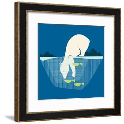 Fishing Bear--Framed Giclee Print