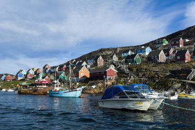 Fishing Boast in the Quiet Harbor of a Village on an Arctic Island-Jason Edwards-Photographic Print