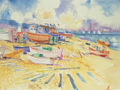 Fishing Boat Beach-Elizabeth Jane Lloyd-Giclee Print