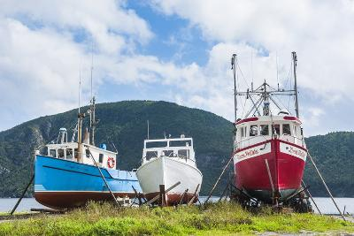 Fishing Boat in Corner Brook, Newfoundland, Canada, North America-Michael Runkel-Photographic Print