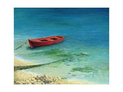 Fishing Boat In Island Corfu-kirilstanchev-Art Print