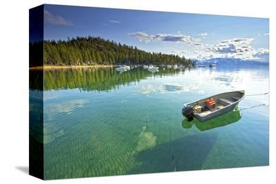 Fishing Boat in Lake Tahoe--Stretched Canvas Print