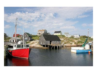 Fishing Boat in Peggy's Cove--Art Print