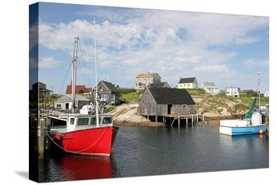 Fishing Boat in Peggy's Cove--Stretched Canvas Print