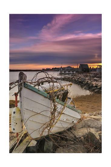 Fishing Boat on Shore-Lantern Press-Art Print