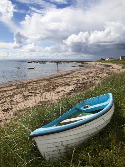 Fishing Boat on the Beach at Carnoustie, Angus, Scotland, United Kingdom, Europe-Mark Sunderland-Photographic Print