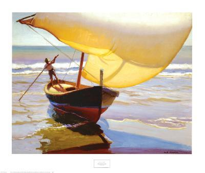 Fishing Boat, Spain-Arthur Rider-Art Print