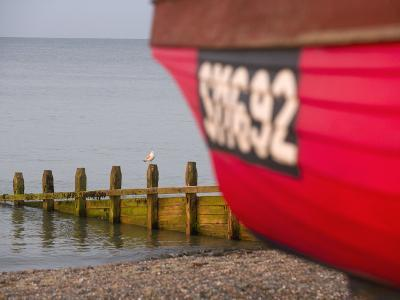 Fishing Boat, Worthing Beach, West Sussex, England, United Kingdom, Europe-Miller John-Photographic Print