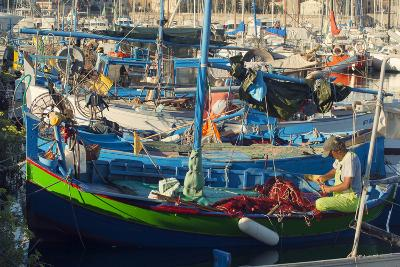 Fishing Boats, Alghero, Sardinia, Europe-Craig Easton-Photographic Print