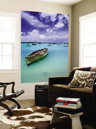 Fishing Boats Anchored in Lagoon-Olivier Cirendini-Wall Mural