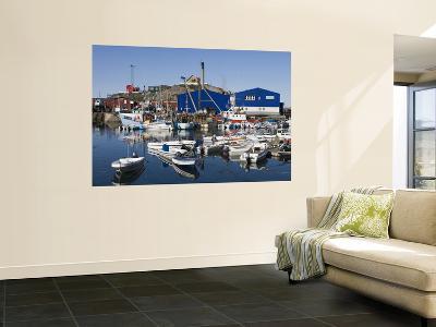 Fishing Boats and Royal Greenland Seafood Factory-Holger Leue-Wall Mural