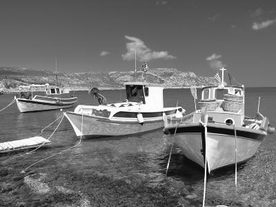 Fishing Boats at Anopi Beach, Karpathos, Dodecanese, Greek Islands, Greece, Europe-Sakis Papadopoulos-Photographic Print