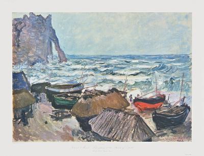 Fishing Boats at Etrétat-Claude Monet-Collectable Print