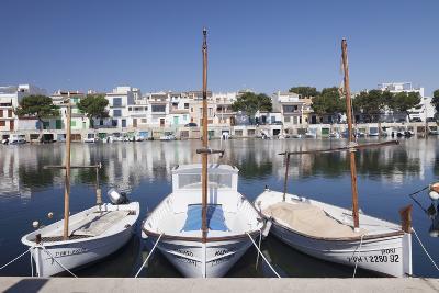Fishing Boats at Fishing Port, Porto Colom, Majorca (Mallorca)-Markus Lange-Photographic Print