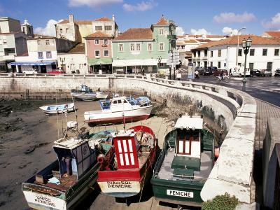 Fishing Boats at Low Tide, Peniche, Estremadura, Portugal-Ken Gillham-Photographic Print