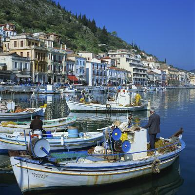 Fishing Boats at Port Town of Neapoli, Peloponnese, Greece, Europe-Tony Gervis-Photographic Print