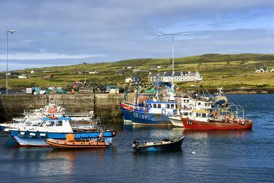 Fishing Boats at Portmagee in Kerry, Ireland-Chris Hill-Photographic Print