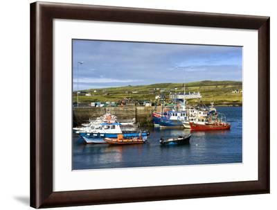 Fishing Boats at Portmagee in Kerry, Ireland-Chris Hill-Framed Photographic Print
