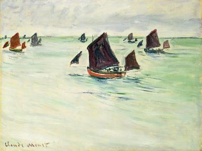 Fishing Boats at Pourville, 1882-Claude Monet-Giclee Print