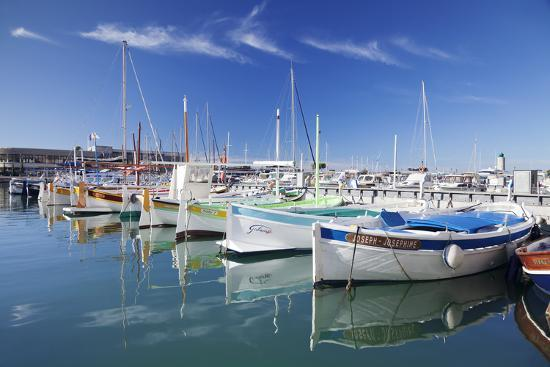 Fishing Boats at the Harbour, France-Markus Lange-Photographic Print