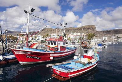 Fishing Boats at the Old Port of Puerto De Mogan-Markus Lange-Photographic Print