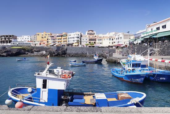 Fishing Boats at the Port, Los Abrigos, Tenerife, Canary Islands, Spain, Atlantic, Europe-Markus Lange-Photographic Print