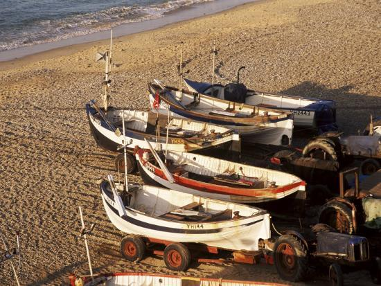 Fishing Boats, Cromer, Norfolk, England, United Kingdom-Charcrit Boonsom-Photographic Print