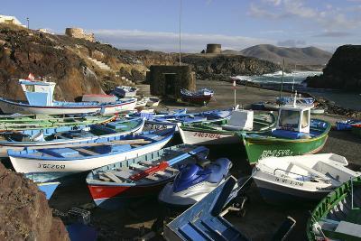 Fishing Boats, El Cotillo, Fuerteventura, Canary Islands-Peter Thompson-Photographic Print