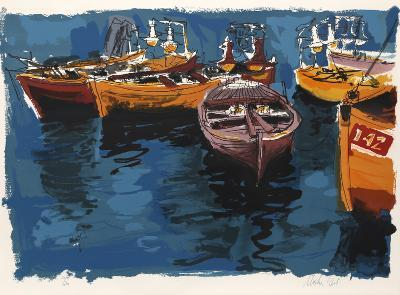Fishing Boats from People in Israel-Moshe Gat-Limited Edition