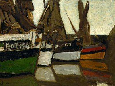 Fishing Boats, Honfleur, 1866-Claude Monet-Giclee Print