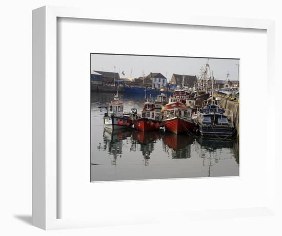 Fishing Boats, Howth Harbour, County Dublin, Republic Ireland, Europe-David Lomax-Framed Photographic Print
