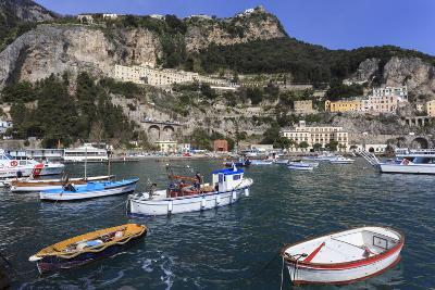 Fishing Boats in Amalfi Harbour-Eleanor Scriven-Photographic Print