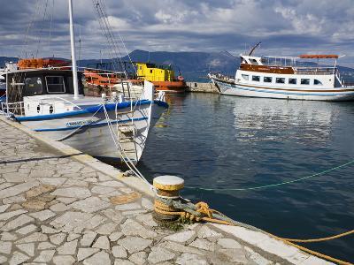 Fishing Boats in Corfu, Ionian Islands, Greek Islands, Greece, Europe-Richard Cummins-Photographic Print