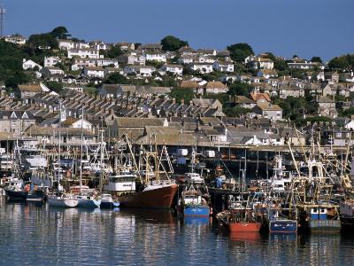 Fishing Boats in Harbour, Newlyn, Cornwall, England, United Kingdom-Tony Waltham-Photographic Print