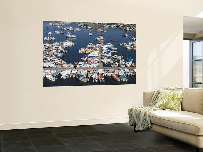 Fishing Boats in Harbour-Holger Leue-Wall Mural