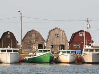 Fishing Boats in Malpeque Harbour, Malpeque, Prince Edward Island, Canada, North America-Michael DeFreitas-Photographic Print