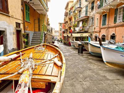 Fishing Boats in Manarola, Cinque Terre, Tuscany, Italy-Richard Duval-Photographic Print