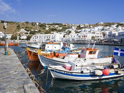 Fishing Boats in Mykonos Town, Island of Mykonos, Cyclades, Greek Islands, Greece, Europe-Richard Cummins-Photographic Print
