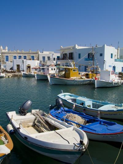 Fishing Boats in Naoussa, Paros, Greece-Bill Bachmann-Photographic Print