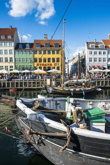 Fishing Boats in Nyhavn, 17th Century Waterfront, Copenhagen, Denmark, Scandinavia, Europe-Michael Runkel-Photographic Print