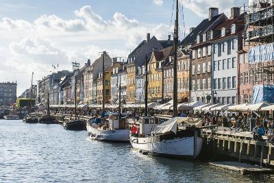 Fishing Boats in Nyhavn, 17th Century Waterfront, Copenhagen, Denmark-Michael Runkel-Photographic Print