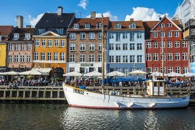 Fishing Boats in Nyhavn, 17th Century Waterfront, Copenhagen, Denmark-Michael Runkel-Photographic Print