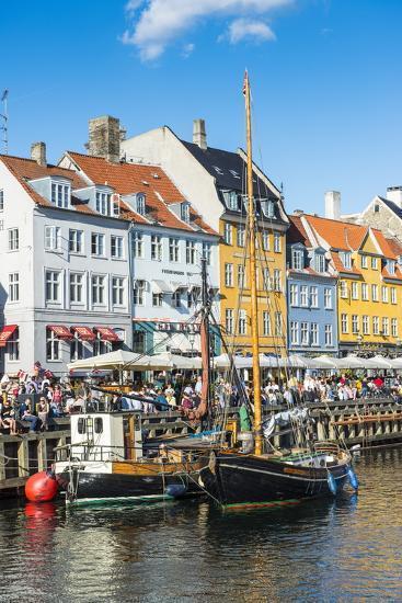 Fishing Boats in Nyhavn, 17th Century Waterfront, Copernhagen, Denmark, Scandinavia, Europe-Michael Runkel-Photographic Print